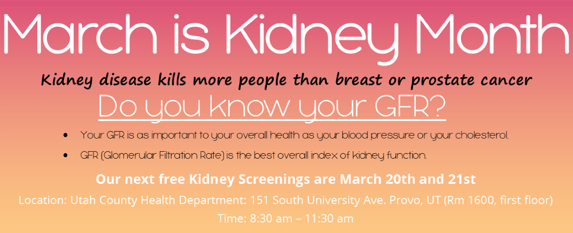 March is Kidney Month 2018